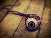 Halloween Photo Posters - Creepy Eyeball Poster by Edward Fielding