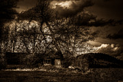 Haunted House Photo Prints - Creepy House One Print by Derek Haller