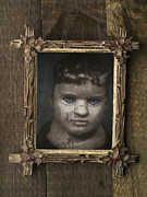 Old Face Framed Prints - Creepy Relative Framed Print by Edward Fielding