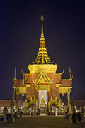 Cremation Photos - Cremation Temple In Phnom Penh Cambodia by Jacek Malipan