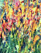 Oil Mixed Media - Crescendo Of Spring Abstract by Zeana Romanovna