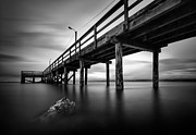 Cloudy Photo Prints - Crescent Beach Print by Alexis Birkill
