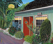 Bistro Paintings - Crescent Beach Bistro by Elizabeth Suttie