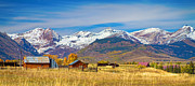 Crested Framed Prints - Crested Butte Autumn Landscape Panorama Framed Print by James Bo Insogna