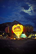 Crested Butte Prints - Crested Butte Balloon Glow Print by Dusty Demerson