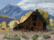 Pallet Knife Painting Posters - Crested Butte Country Poster by Mary Giacomini