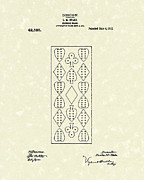 Crib Art - Cribbage Board 1912 Patent Art by Prior Art Design