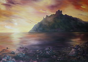 Masonary Art - Criccieth Castle North Wales by Jean Walker