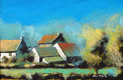 Expressionist Prints - Crich Farm Print by Neil McBride