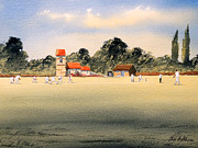 Cricket Paintings - Cricket by Bill Holkham