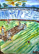 Stadium Design Prints - Cricket-day Print by Ayyappa Das