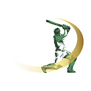 Sports Digital Art - Cricket by M Ali Sahib