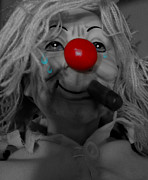 Red Nose Posters - Cries Of A Clown  Poster by Jerry Cordeiro