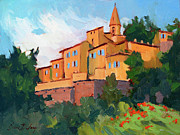 Wineries Painting Prints - Crillon Le Brave Print by Diane McClary