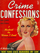 Covers Drawings Prints - Crime Confessions 1931 1930s Usa Pulp Print by The Advertising Archives