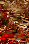 Crimson And Gray Glass Macro Ws4 Print by David Patterson