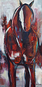 Wild Horse Paintings - Crimson by Cher Devereaux