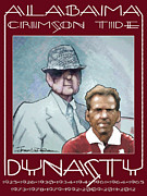 Bear Bryant Drawings Posters - Crimson Dynasty Poster by Jerrett Dornbusch