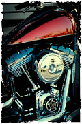 Classic Cycle Prints - Crimson Hog Print by David Patterson