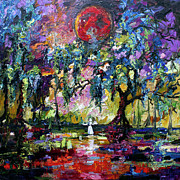 Ginette Fine Art LLC Ginette Callaway - Crimson Moon over the Garden of Good and Evil