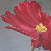 Crimson Red Garden Cosmos Print by Christiane Schulze Art And Photography