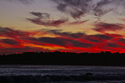 Eventide Prints - Crimson Sky Print by Maureen J Haldeman