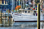Alabama Crimson Tide Prints - Crimson Tide in Harbor Print by Michael Thomas