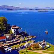 Printed Prints - Crinan Harbour Scotland Print by Craig Brown