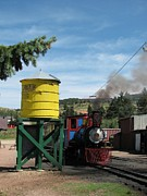 Bi-cycle Prints - Cripple Creek Train Print by Steven Parker