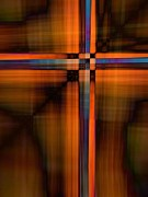 Cross Digital Art Prints - Crisscross 1 Print by Tom Druin