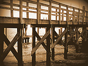 Seashore Digital Art Metal Prints - Crisscross Metal Print by Sheri McLeroy