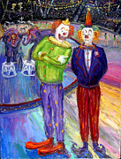 Circus. Paintings - Critical Clowns by Arthur Robins