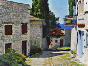 Old Town Digital Art Prints - Croatia Rovinj View 1 Print by Yury Malkov