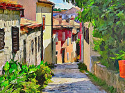 Old Town Digital Art Prints - Croatia Rovinj View 3 Print by Yury Malkov
