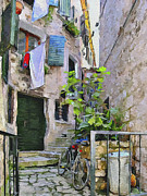 Old Town Digital Art - Croatia Rovinj View 4 by Yury Malkov
