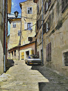 Old Town Digital Art Framed Prints - Croatia Rovinj View 6 Framed Print by Yury Malkov