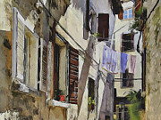 Old Town Digital Art Prints - Croatia Rovinj View 7 Print by Yury Malkov