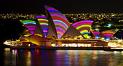 Vivid Festival Art - Crochet Sails by Bryan Freeman