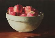 Crock Apples Print by Nancy Teague