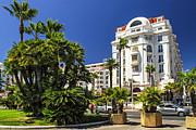 Street View Framed Prints - Croisette promenade in Cannes Framed Print by Elena Elisseeva