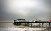Amusements Metal Prints - Cromer Pier On A Muggy Cold Day Metal Print by Fizzy Image