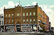 Companies Prints - Crook Record Co. And Department Store In Paris Tx 1910 Print by Dwight Goss