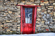 Red Doors Prints - Crooked Red Print by Emily Stauring