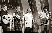 Csn Photos - Crosby  Stills  Nash  and Young 1985 by Chuck Spang