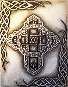 Celtic Cross Drawings - Cross by Alyssa Lyne