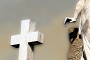 Catholic Art Photo Originals - Cross and Angel Hand Baltimore Maryland by John Hanou