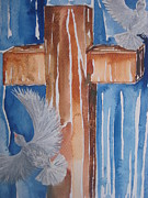 Liberty Paintings - Cross and Spirit by Rachael Pragnell
