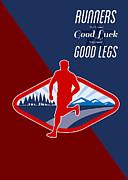 Cross Country Runner Retro Poster Print by Aloysius Patrimonio