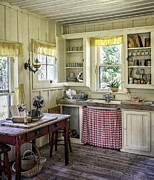 Wood Plank Flooring Prints - Cross Creek Country Kitchen Print by Lynn Palmer