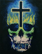 Gothic Crucifix Prints - Cross Print by Michael Creese